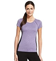 M&S Collection Active Performance Marl Top