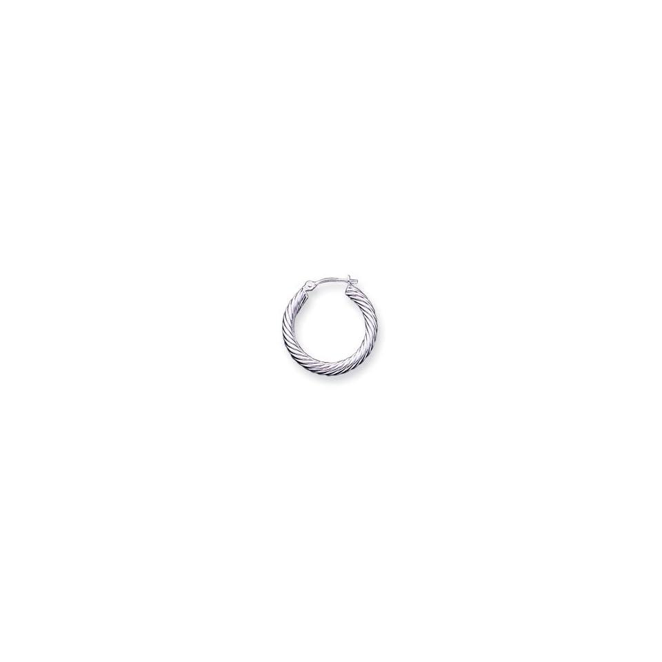 14k White Gold Hoop Earrings   JewelryWeb Jewelry
