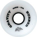 Gravity Burner Ice White Longboard Wheels - 66mm 77a (Set of 4)