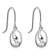 M&S Collection Finest Sterling Silver Cut-Out Drop Earrings