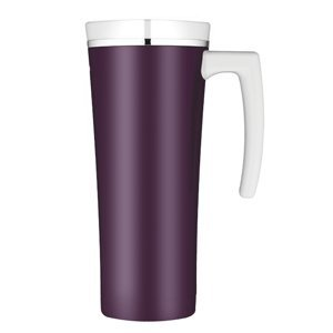 Thermos Sipp Vacuum Insulated Travel Mug - Plum/White front-575124