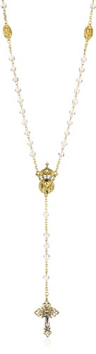 The Vatican Library Collection Gold-Tone Crystal Wedding Rosary