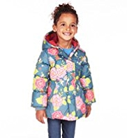 Hooded Floral Padded Coat with Stormwear™