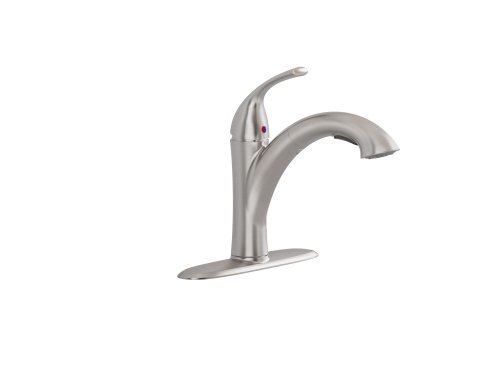American Standard 4433.100.075 19.1-L by 13.2-W by 3.4-H Quince Pull-Out Kitchen Faucet, Stainless Steel