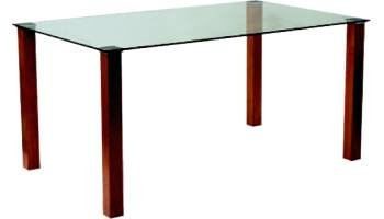 Union clear glass Table 800mm x 800mm