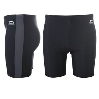 Slazenger Swimming Jammers Mens Black/Charcoal M (32)