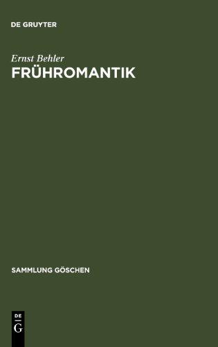 Frühromantik. (Sammlung Göschen)