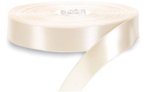 Double Face CHAMPAGNE IVORY 100% Polyester Satin Ribbon 1/4 inch x 100 yards