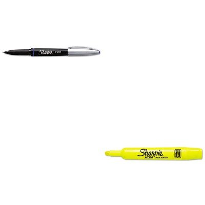 KITSAN1758056SAN25025 - Value Kit - Sharpie Grip Porous Point Stick Permanent Water Resistant Pen (SAN1758056) and Sharpie Accent Tank Style Highlighter (SAN25025) kitred5l350unv35668 value kit rediform sales book red5l350 and universal standard self stick notes unv35668