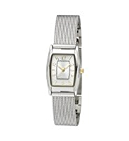 M&S Collection Rectangular Face Two Tone Analogue Mesh Strap Watch