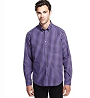 Button-Down Collar Easy Care™ Gingham Checked Shirt