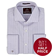 2in Longer Sartorial Pure Cotton Checked Shirt