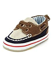 Lace Up Boat Pram Shoes