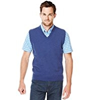 XXXL Blue Harbour Extrafine Pure Lambswool V-Neck Slipover
