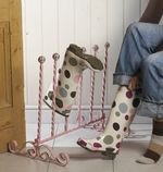 Heavy duty pink welly wellington boot rack