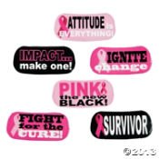 72 Cool PINK RIBBON/FACE TATTOOS/6 Sheets of 12/Breast Cancer AWARENESS/SURVIVOR/Pink is the NEW BLACK/FUNDRAISER/PARTY FAVORS/6 DOZEN/Fight LIKE A Girl/Fight - 1