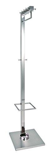 HAKU-Mbel-89722-Garderobenstnder-40-x-40-x-180-cm-Edelstahloptik