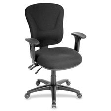 Lorell Mid-Back Task Chair, 26-3/4 by 26 by 39-1/4-42-Inch, Gray