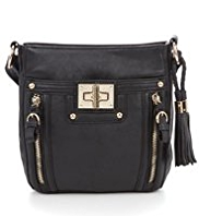 M&S Collection Glamour Turn Lock Cross Body Bag