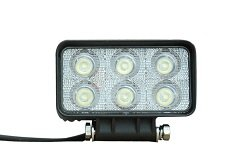 18 Watt Led Flood Light - 1400 Lumens - Six 3-Watt Leds - 10-32 Volt Dc - Ip67 Waterproof
