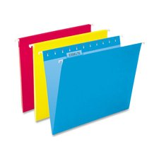 Pendaflex® EssentialsTM Colored Hanging File Folders FOLDER,HNG,LTR,1/5,25B,GY QT256FCS (Pack of5)