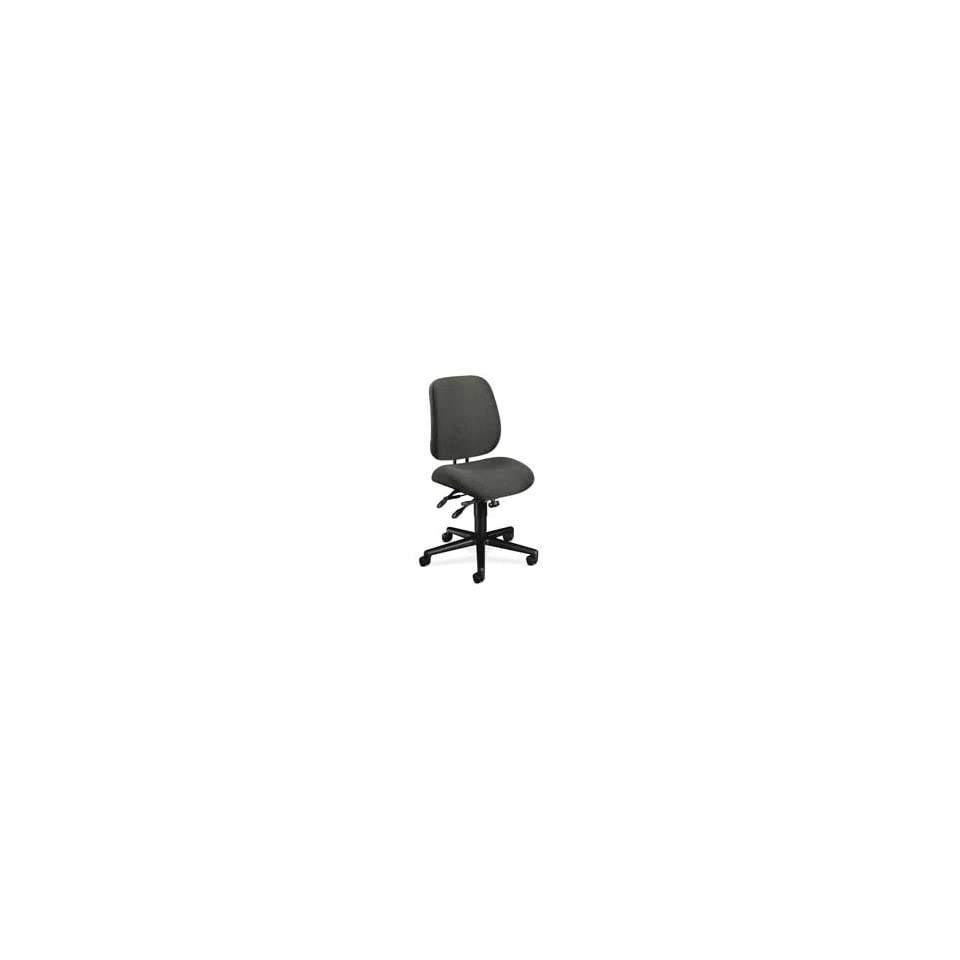 HON Company Products   Task Chair, 26x29 1/2x42 1/2, Blue/Black Frame   Sold as 1 EA   High performance task chair offers large seat and back cushions for support. Functions include back height adjustment, pneumatic seat height adjustment, 360 degree swi