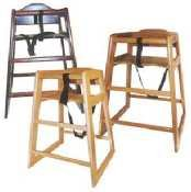 Winco CHH-101 Unassembled Wooden High Chair, Natural (Wooden Restaurant Chair compare prices)