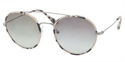 prada Prada PR53PS Sunglasses-KAD/0A7 Gunmetal/White Havana (Gray Gradient Lens)-54mm