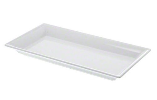 American Metalcraft MEL19 The Endurance Melamine Collection Rectangular Platter, 14-1/4-Inch, White