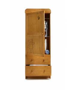 Obaby B Is For Bear Single Wardrobe - Country Pine.