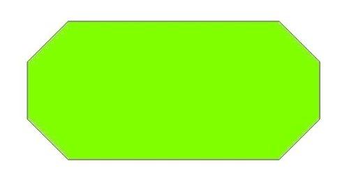 Haftetiketten handauszeichner pour 26 x 16 mm (39.600.. fluor vert.