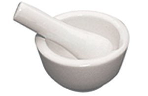 Fox Run Mortar and Pestle - Ceramic - 2½""