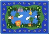 "Joy Carpets Kid Essentials Infants & Toddlers Jungle Peeps Rug, Multicolored, 10'9"" x 13'2"""