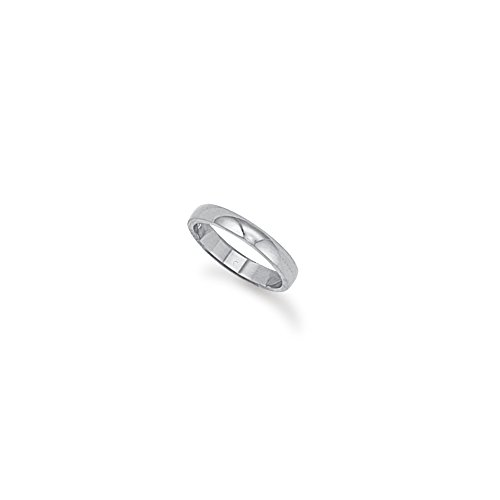 3mm D-Shape Platinum Wedding Band Ring