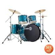 Dixon Spark Podsk522Cbl 5-Piece Drum Set, Cyclone Blue