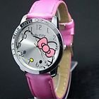 Hello Kitty Large Face Quartz Watch - Pink Band + Hello Kitty Pouch from Hello Kitty