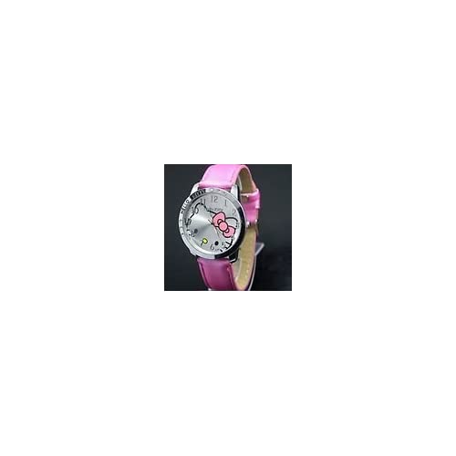 Hello Kitty Large Face Quartz Watch   Pink Band + Hello Kitty Pouch