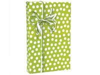 Citrus Lime Green & White Polka Dot Gift Wrap Wrapping Paper 16 Foot Roll front-1033924