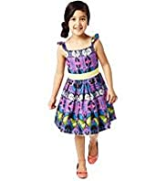 Autograph Pure Cotton Butterfly Print Dress with Belt