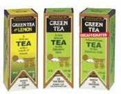 Btc10578 - Green Teas,Incld. Green Tea/Green Tea W/ Lemon Or Decaf