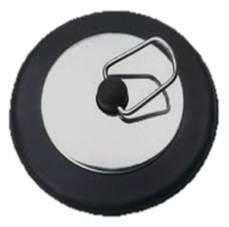 50mm BLACK & SILVER RUBBER PLUG bath sink kitchen bathroom