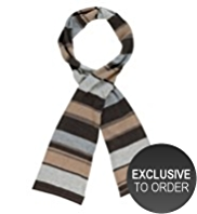 M&S Collection Cashmere Rich Metallic Striped Scarf