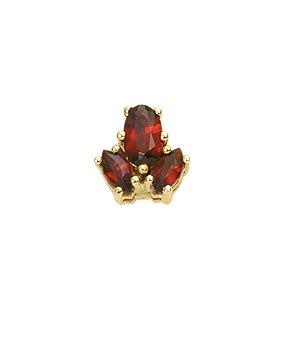 Damen Schmuck 1 Paar Gold Ohrringe / Ohrstecker mit Granat aus 8 Karat (333) Gelb Gold ( 7,5 x 7,7 mm ) online bestellen