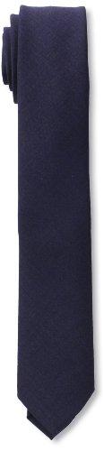 Marc Jacobs Men'S Slim Solid Tie, Navy/Blue, One Size