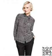 Best of British Pure Silk Diamond & Checked Shirt