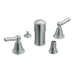 Moen TS5285 Rothbury Two-Handle Bidet Faucet without Valve, Chrome