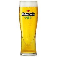Heineken Pint Glasses 22.7oz Lined and CE Stamped at 20oz - Set of 4 | Branded Heineken Glasses, Offical Heineken Glasses