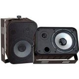 Pyle Home PDWR50B 6.5-Inch Indoor/Outdoor Waterproof Speakers (Black) by Pyle Home