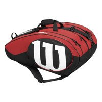 Wilson Match II 12Pk Bkrd Corde per Racchette da Tennis, Nero/Rosso, Taglia Unica