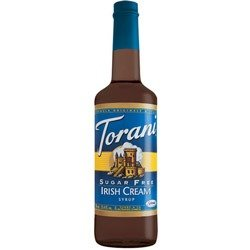 Torani Sugar Free Irish Cream Syrup, 33.8 Ounces / 1 Liter (Extra Large Bottle)